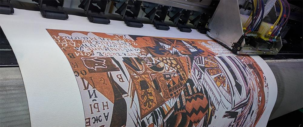 Печать на холсте в рекламном агентстве РИНВО
